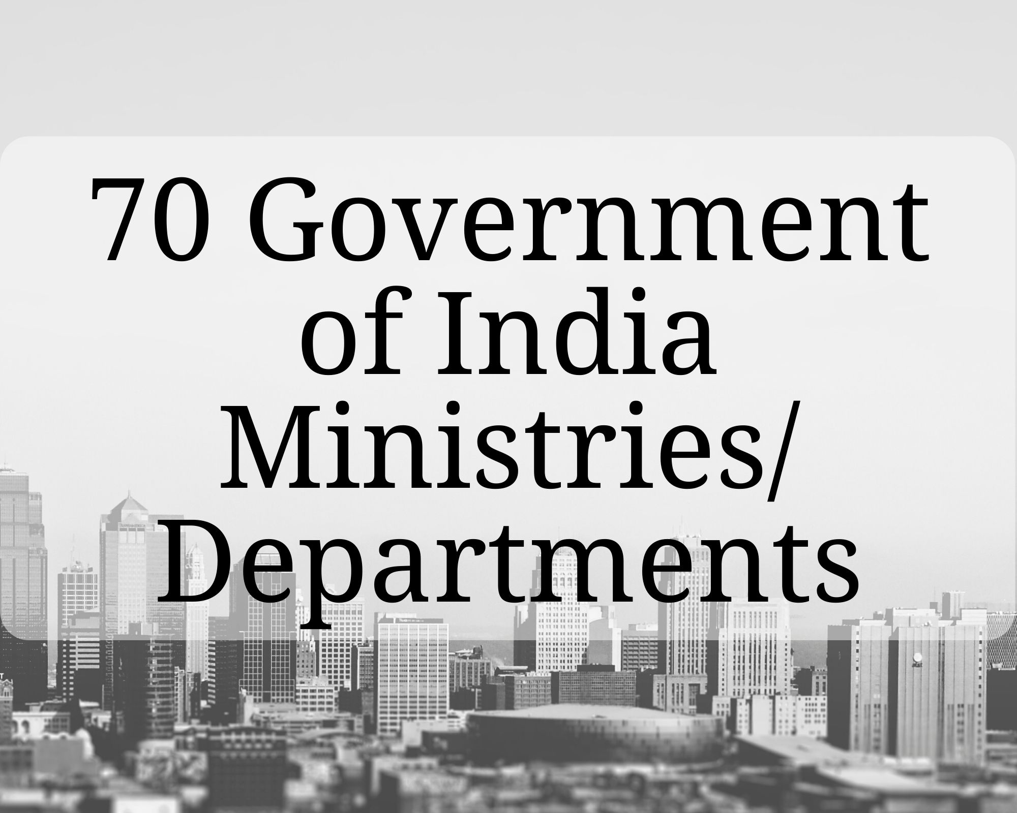 Governement Ministries